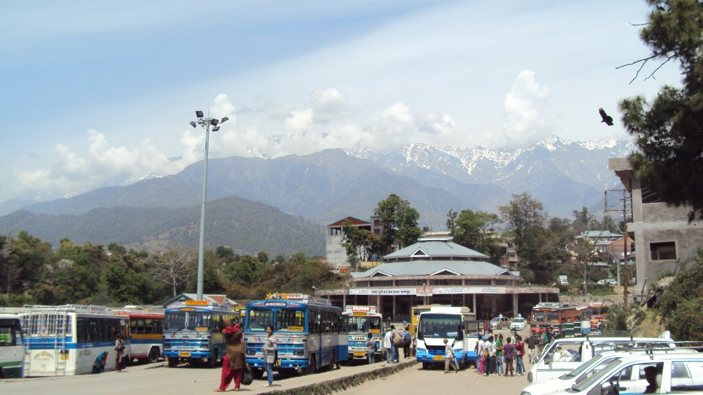 Brilliant view from Palampur Bus Stop - On my way to McLeodganj from Mandi