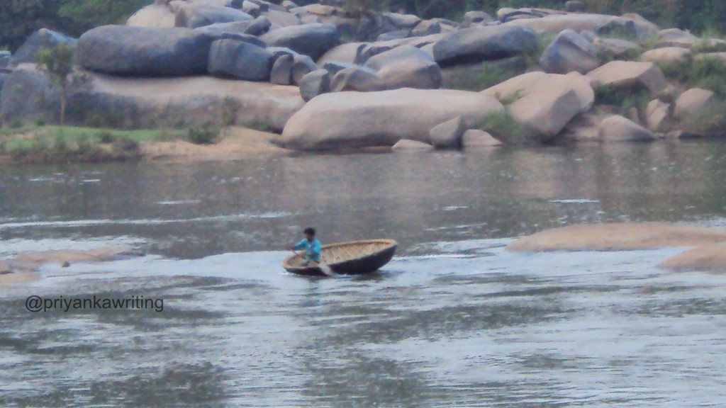 Traditional Coracal Boat, Hampi
