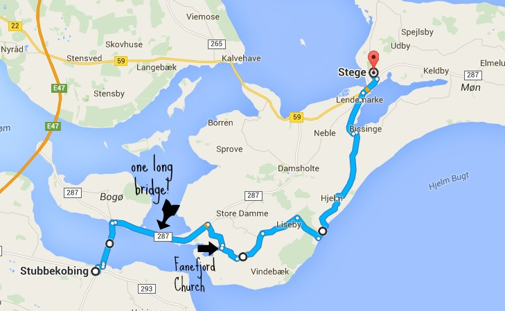 Stubbekobing to Stege Route