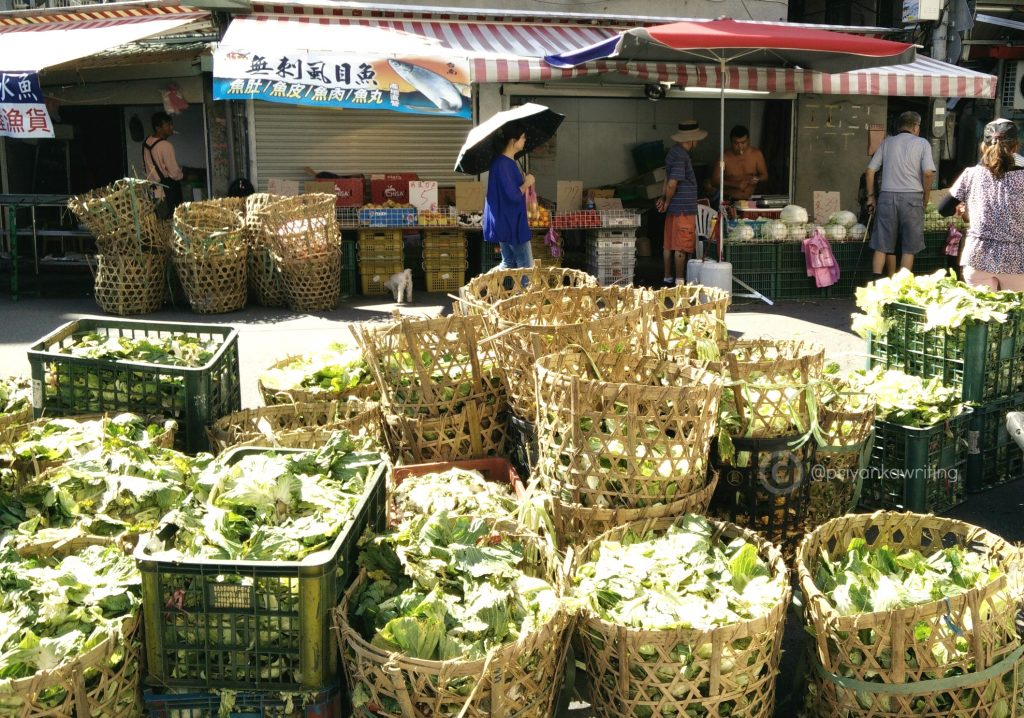 Taiwan Street Photography - Cabbage baskets