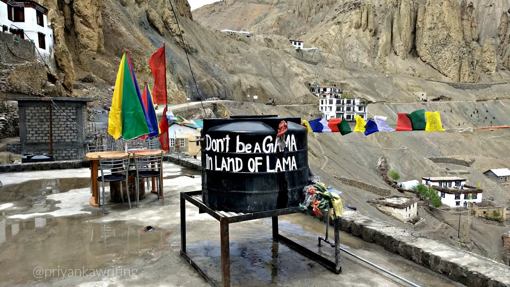 Spiti Valley Tour - A Quote in Dhankar