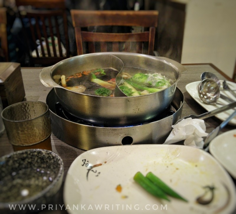 vegetarian hot pots in taipei, Like Lotus restaurant